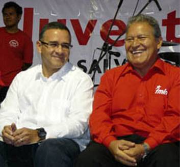Mauricio Funes and Salvador Sanchez Ceren