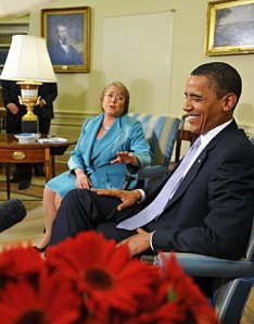 US President Obama and Chilean President Bachelet on Wednesday