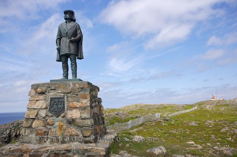 Statue of John Cabot in Cape Bonavista in Newfoundland, Canada.