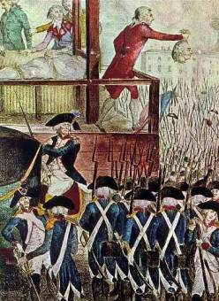 The execution of Robespierre: