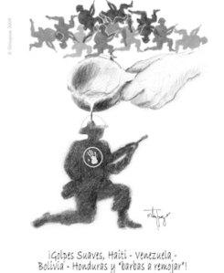 Cartoon from Telesur