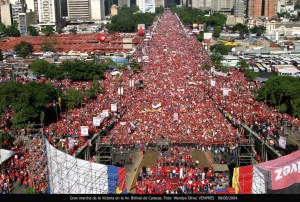 Crowds for Chavez in February - yet, Venezuela scored lower than all of Latin America